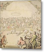 The Dog Fight Metal Print by Thomas Rowlandson