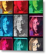The Essence Of Light- John Lennon Metal Print by Jimi Bush