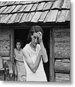 The Family Of Poor Farmer In Boone Metal Print by Everett