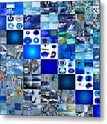 The Fathomless Blue Of Bliss Metal Print by Fine Art  Photography
