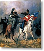 The Fight For The Standard Metal Print by Granger