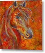 The Fire Of Passion Metal Print by The Art With A Heart By Charlotte Phillips