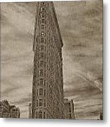 The Flat Iron Building Metal Print by Kathy Jennings