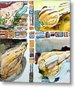 The Gourd Quartet Metal Print by Mindy Newman