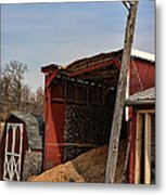 The Grain Barn Metal Print by Paul Ward