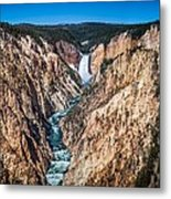 The Grand Canyon Of Yellowstone Metal Print by Brad Boserup