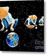 The Grass Is Always Greener On The Other Side Of Uranus Metal Print by Pauline Ross