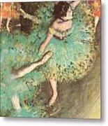 The Green Dancer Metal Print by Edgar Degas