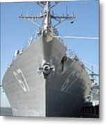 The Guided Missile Destroyer Uss Cole Metal Print by Stocktrek Images