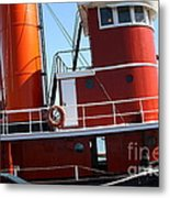 The Hercules . A 1907 Steam Tug Boat At The Hyde Street Pier In San Francisco California . 7d14143 Metal Print by Wingsdomain Art and Photography