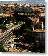 The Historic Centre Of Rome Metal Print by Fabrizio Troiani