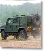 The Iveco Light Multirole Vehicle Metal Print by Luc De Jaeger