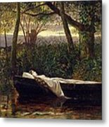 The Lady Of Shalott Metal Print by Walter Crane