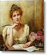 The Letter Metal Print by George Goodwin Kilbourne