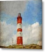 The Lighthouse Amrum Metal Print by Angela Doelling AD DESIGN Photo and PhotoArt