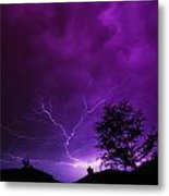 The Lightning Spread Metal Print by Lisa  Spencer