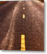 The Long Road Home . Painterly Style . Long Size Metal Print by Wingsdomain Art and Photography
