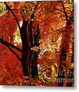 The Magic Of Autumn - Digital Abstract Metal Print by Carol Groenen