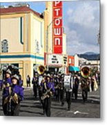 The Marching Band At The Uptown Theater In Napa California . 7d8925 Metal Print by Wingsdomain Art and Photography
