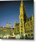 The Marienplatz At Night Metal Print by Taylor S. Kennedy