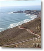 The Marin Headlands - California Shoreline - 5d19593 Metal Print by Wingsdomain Art and Photography