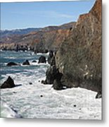 The Marin Headlands - California Shoreline - 5d19692 Metal Print by Wingsdomain Art and Photography