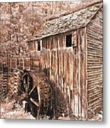 The Mill At Cade's Cove Metal Print by Debra and Dave Vanderlaan
