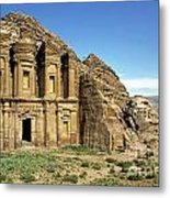 The Monastery Ad Dayr At Petra Metal Print by Sami Sarkis