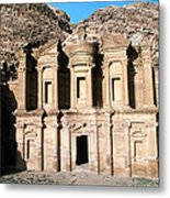 The Nabateian Temple Of Al Deir Metal Print by Martin Gray