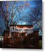 The Old Blacksmith . 7d12956 Metal Print by Wingsdomain Art and Photography