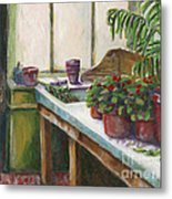 The Old Garden Shed Metal Print by Judith Whittaker
