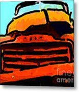 The Old Jalopy . 7d8396 . Color Sketch Style Metal Print by Wingsdomain Art and Photography