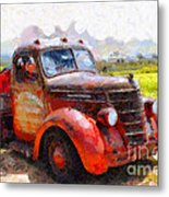 The Old Rusty Jalopy . 7d15500 Metal Print by Wingsdomain Art and Photography