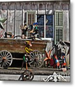 The Old Shed Metal Print by Mary Machare
