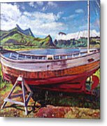 The Old Timer Metal Print by David Lloyd Glover