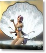 The Pearl Metal Print by Sandra Bauser Digital Art