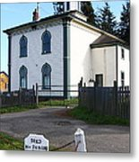 The Potter School House . Bodega Bay . Town Of Bodega . California . 7d12473 Metal Print by Wingsdomain Art and Photography