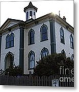 The Potter School House . Bodega Bay . Town Of Bodega . California . 7d12477 Metal Print by Wingsdomain Art and Photography