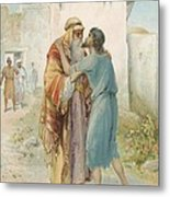 The Prodigal's Return Metal Print by Ambrose Dudley