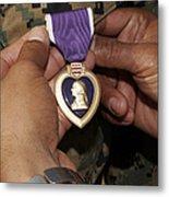 The Purple Heart Award Metal Print by Stocktrek Images