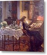The Quiet Hour Metal Print by Albert Chevallier Tayler