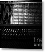 The Rear Window - Bw - 7d17463 Metal Print by Wingsdomain Art and Photography