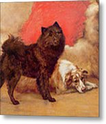 The Red Cushion Metal Print by Maud Earl