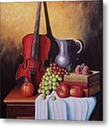 The Red Violin Metal Print by Gene Gregory