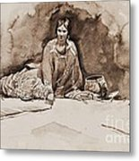 The Robe Metal Print by Pg Reproductions