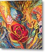 The Rose Of East Metal Print by Elena Kotliarker