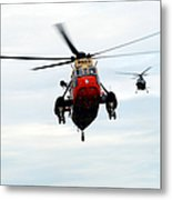 The Sea King Helicopter And The Agusta Metal Print by Luc De Jaeger