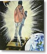 The Snowboarder's Dream Metal Print by Laura Evans