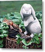 The Stone Rabbit Metal Print by Sandra Chase