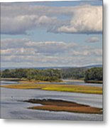 The Susquehanna River At Kingston Pa. Metal Print by Bill Cannon